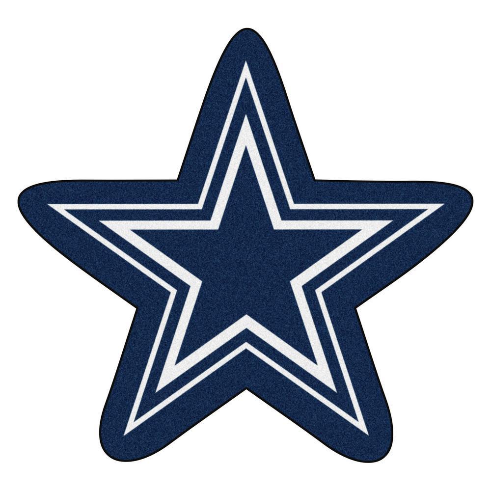 NFL - Dallas Cowboys Mascot Mat 36 in.  x 34.3 in. Indoor  Area Rug
