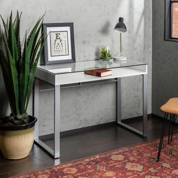 Remarkable Walker Edison Furniture Company 42 In White And Gray Modern Download Free Architecture Designs Photstoregrimeyleaguecom
