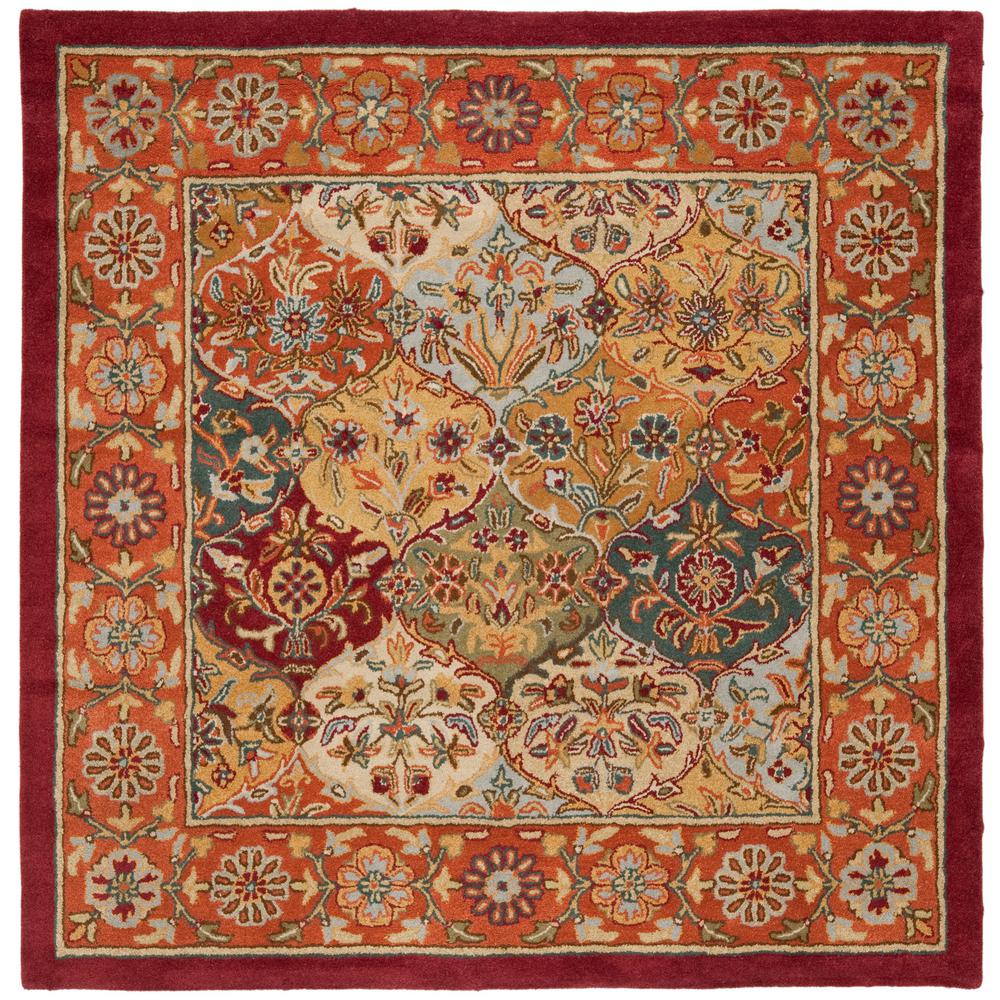Safavieh Heritage Multi/Red 8 Ft. X 8 Ft. Square Area Rug