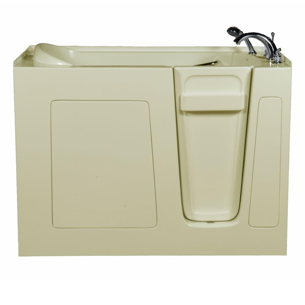 Allure Walk In Tubs 4.58 ft. Right-Drain Walk-In Whirlpool and Air Bath Tub in Bisque
