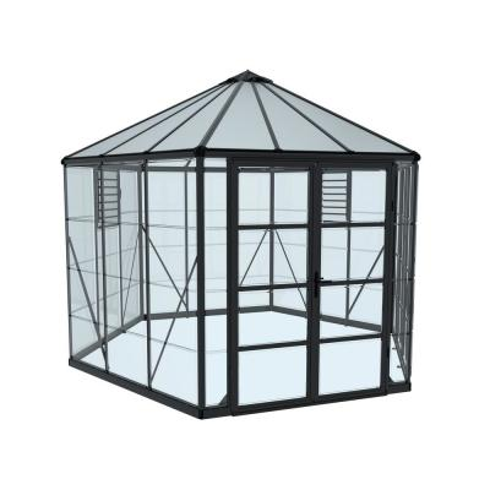 Oasis 12 ft. x 10 ft. Hexagonal Greenhouse