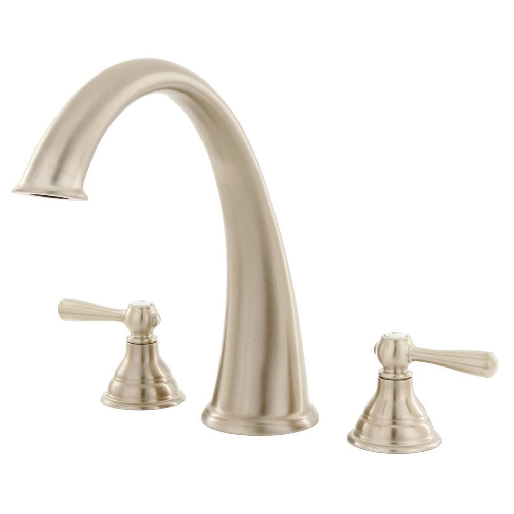 MOEN Kingsley 2-Handle Deck-Mount Roman Tub Trim Kit in Brushed ...