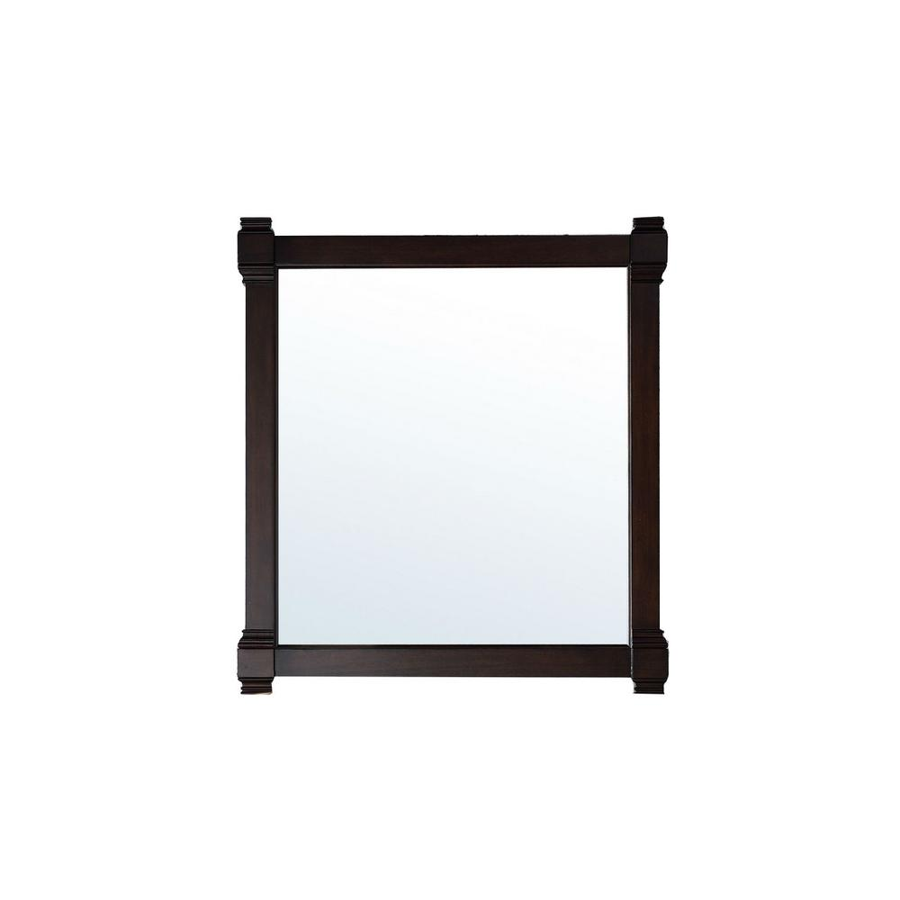James Martin Vanities Brittany 35 in. W x 39 in. H Framed Wall Mirror in Burnished Mahogany