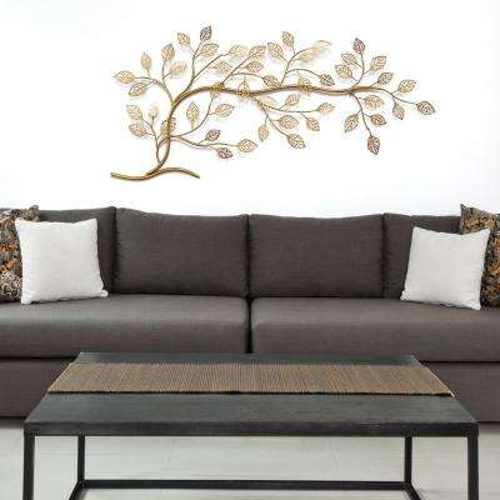 Golden Tree Branch Metal Wall Decor