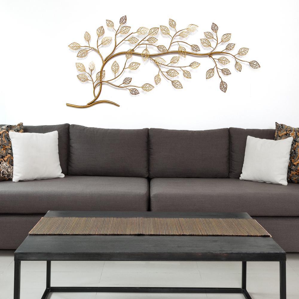 Stratton Home Decor Golden Tree Branch Metal Wall