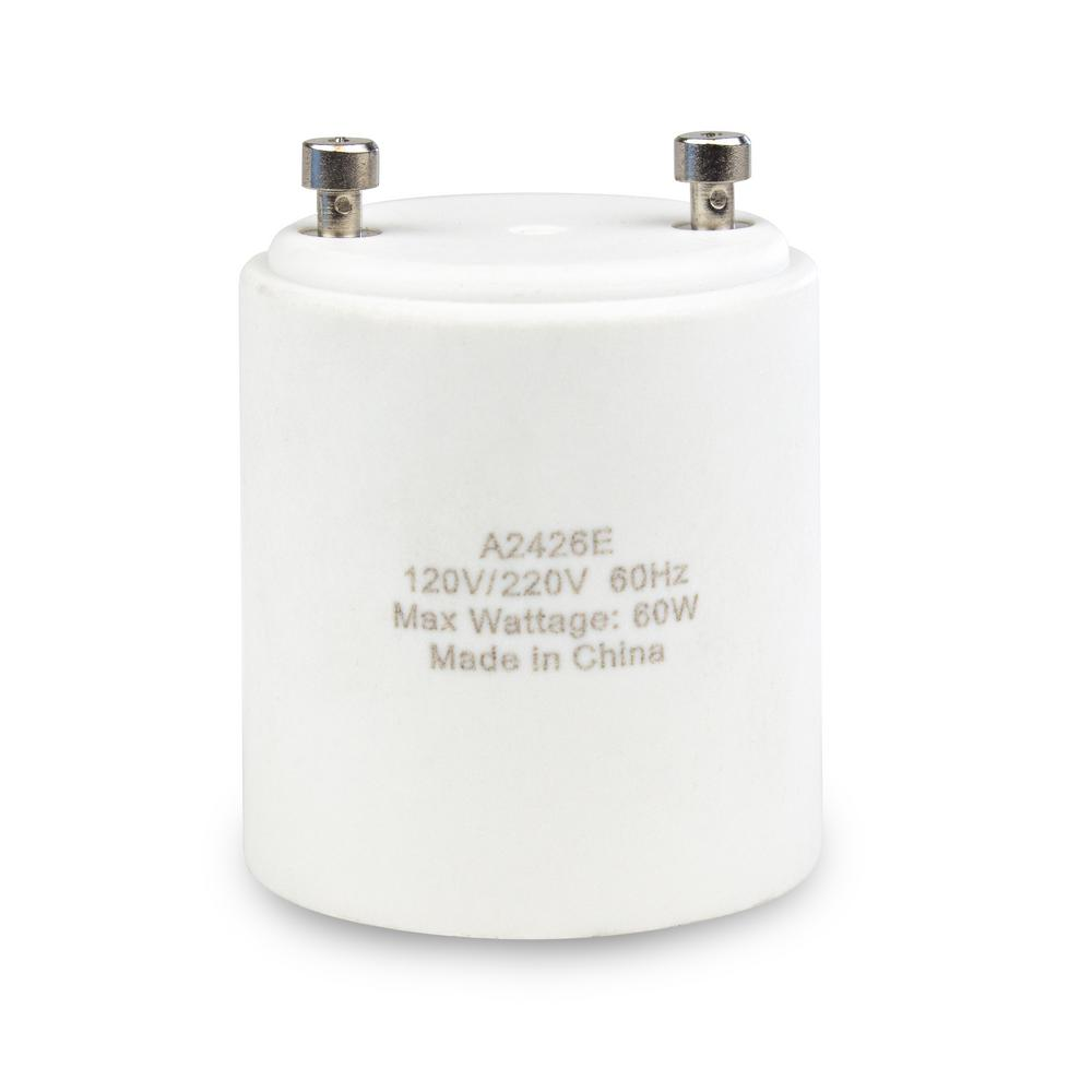Adamax Gu24 To Medium Base E26 Lamp Adapter