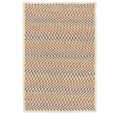 Parkside Autumn Mix 2 ft. x 10 ft. Braided Runner Rug