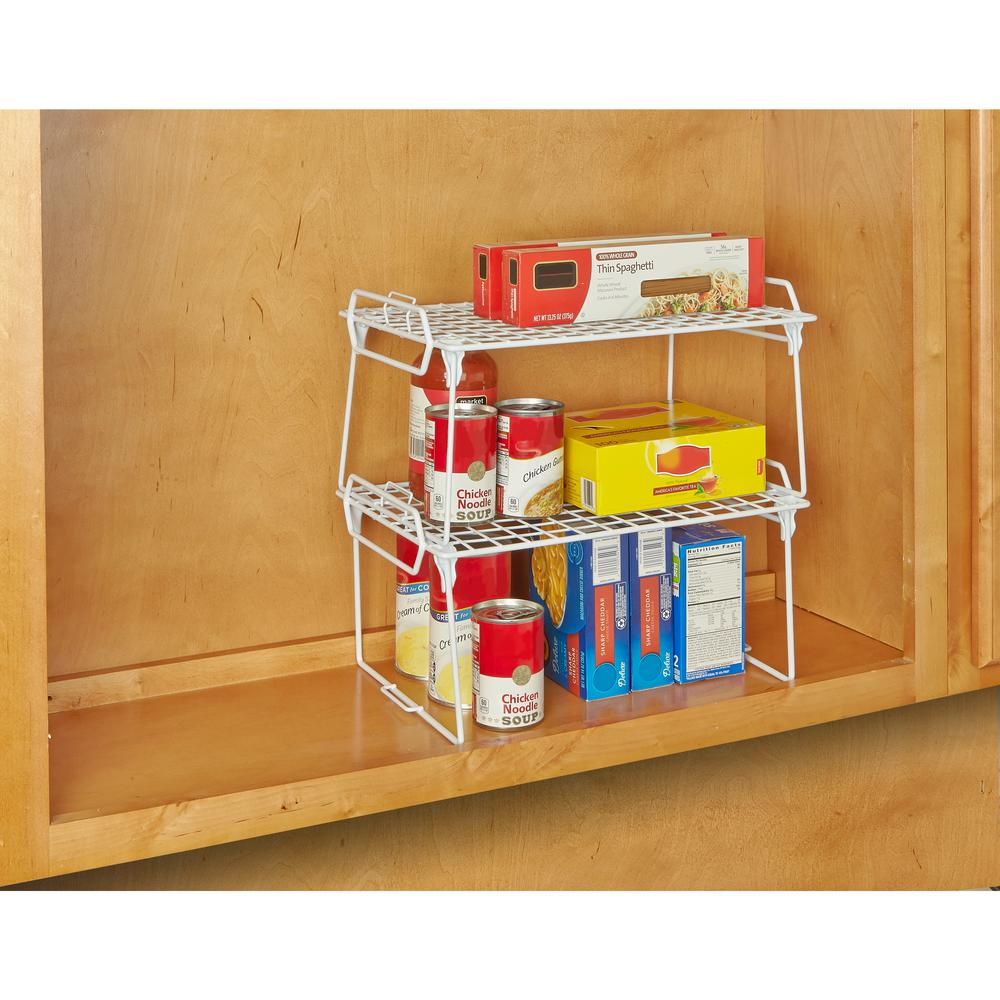 Kitchen Details White Medium Foldable Stacking Shelf