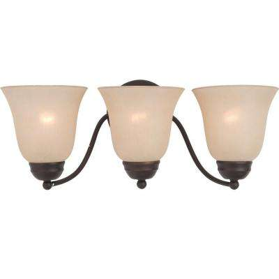 Basix 3-Light Oil-Rubbed Bronze Bath Vanity Light
