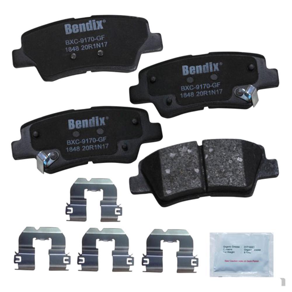 with Installation Hardware Rear Bendix Premium Copper Free CFM1012 Semi-Metallic Brake Pad