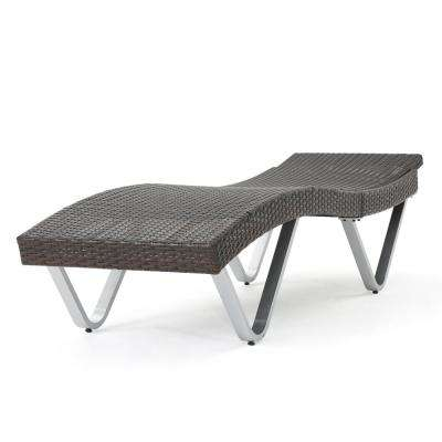 San Marco Multi-Brown 1-Piece Wicker Outdoor Chaise Lounge