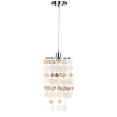 Modern Capiz 1-Light Natural Cream Pendant