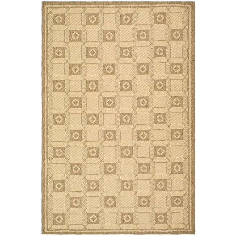 Martha Stewart Living Grand Parquet Cream/Brown 5 ft. 3 in. x 7 ft. 7 in. Area Rug