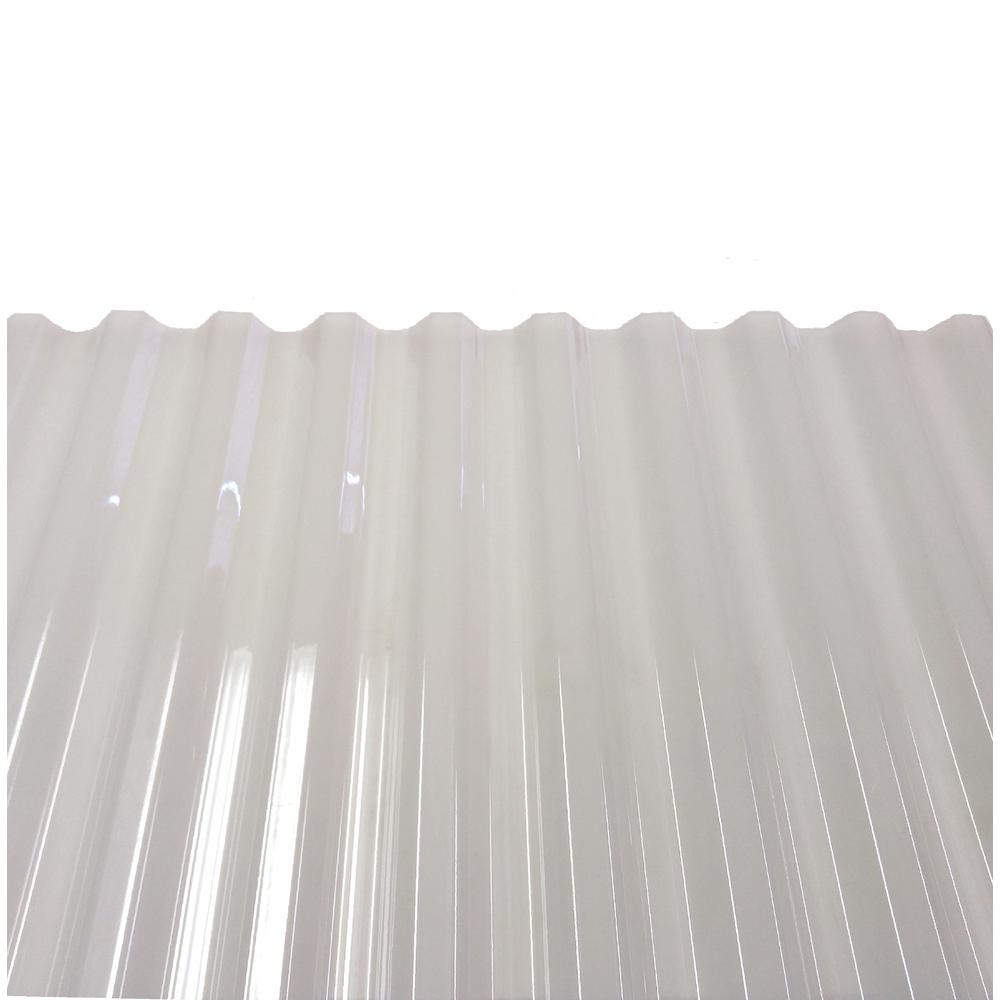 PolyCarb 8 ft  Polycarbonate Roof Panel in Translucent White (10-Pack)