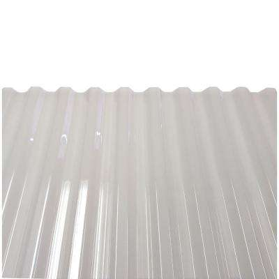 PolyCarb 8 ft. Polycarbonate Roof Panel in Translucent White (10-Pack)