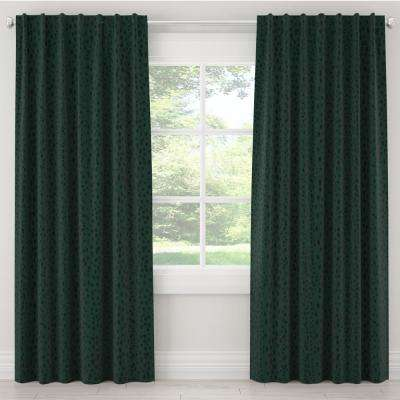 50 in. W x 63 in. L Blackout Curtain in Linen Leopard Emerald