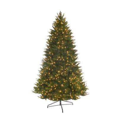 7.5 ft. Pre-Lit Incandescent Miracle Shape Carolina Spruce Artificial Christmas Tree with 800 UL Clear Lights