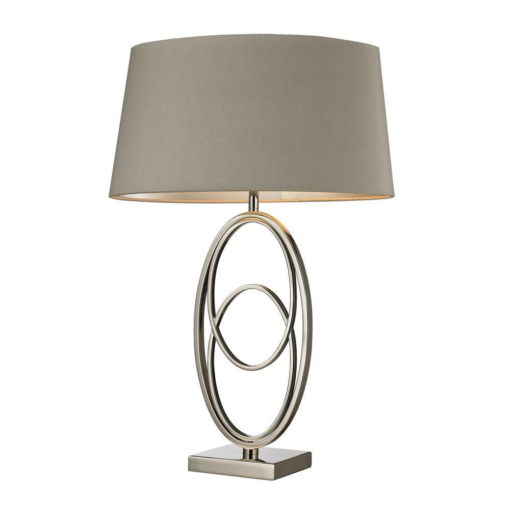 Titan lighting hanoverville 27 in polished nickel table lamp tn titan lighting hanoverville 27 in polished nickel table lamp aloadofball