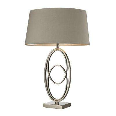 Hanoverville 27 in. Polished Nickel Table Lamp