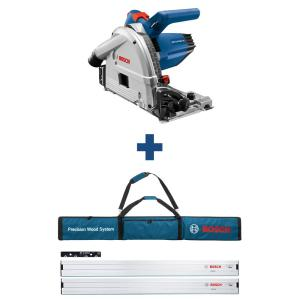 6-1/2 in. 13 Amp Corded Track Saw with Free 63 in. Aluminum Tracks and Carrying Bag