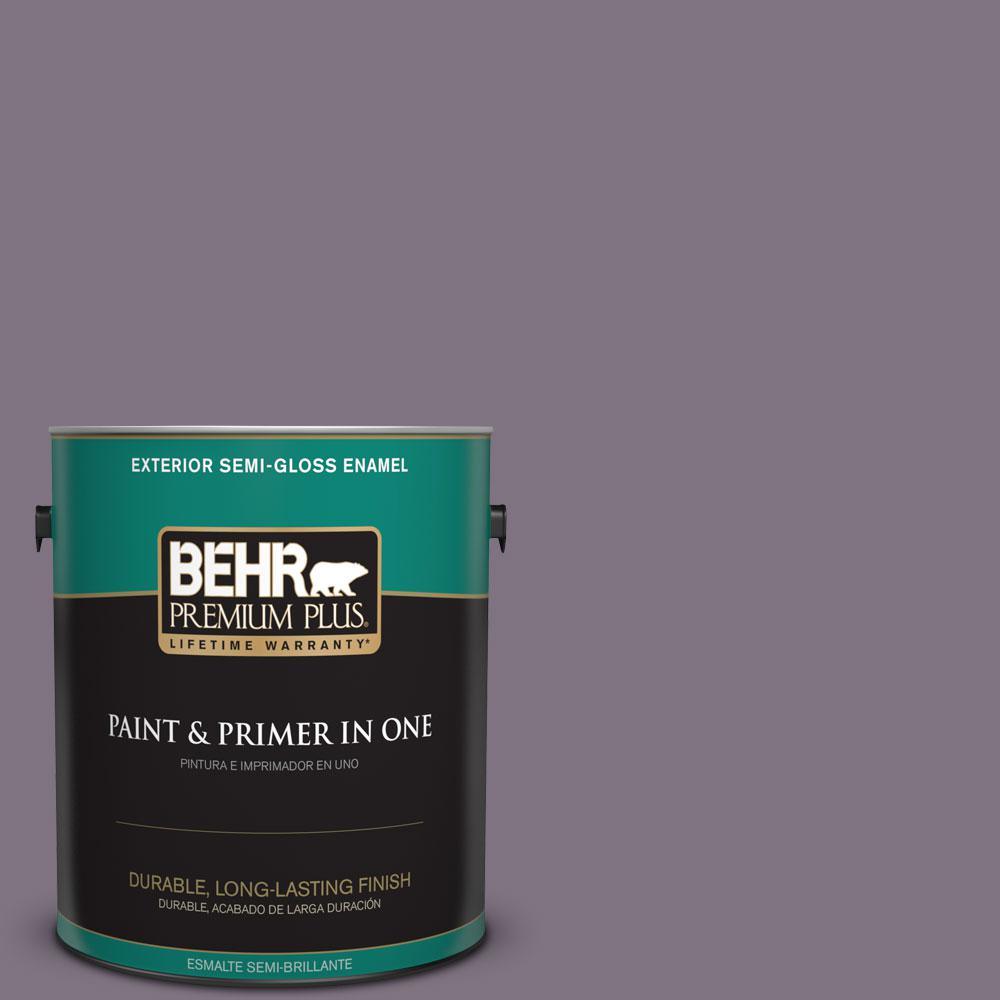 1-gal. #N100-5 Plush Velvet Semi-Gloss Enamel Exterior Paint