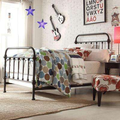 Calabria Bronzed Black Twin Bed Frame
