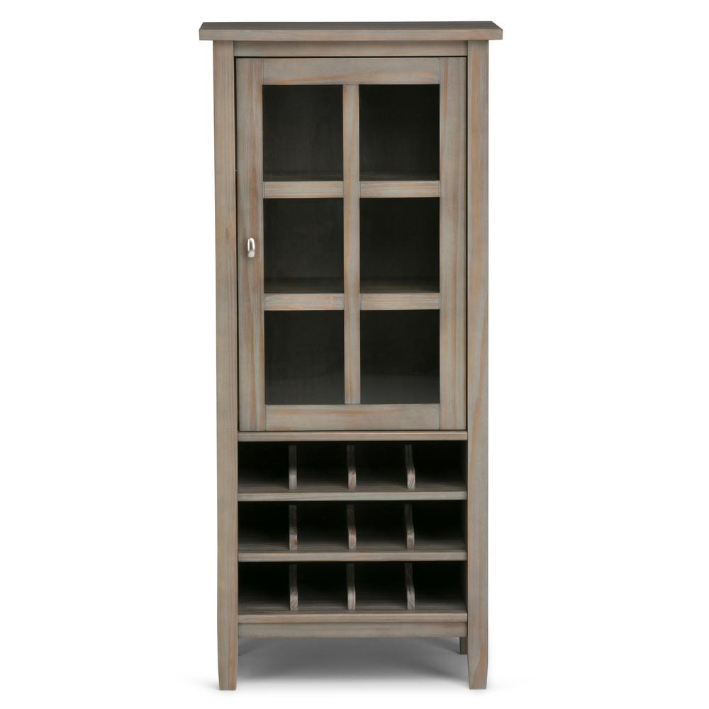 Simply Home Warm Shaker 12-Bottle Wood High Storage Wine ...