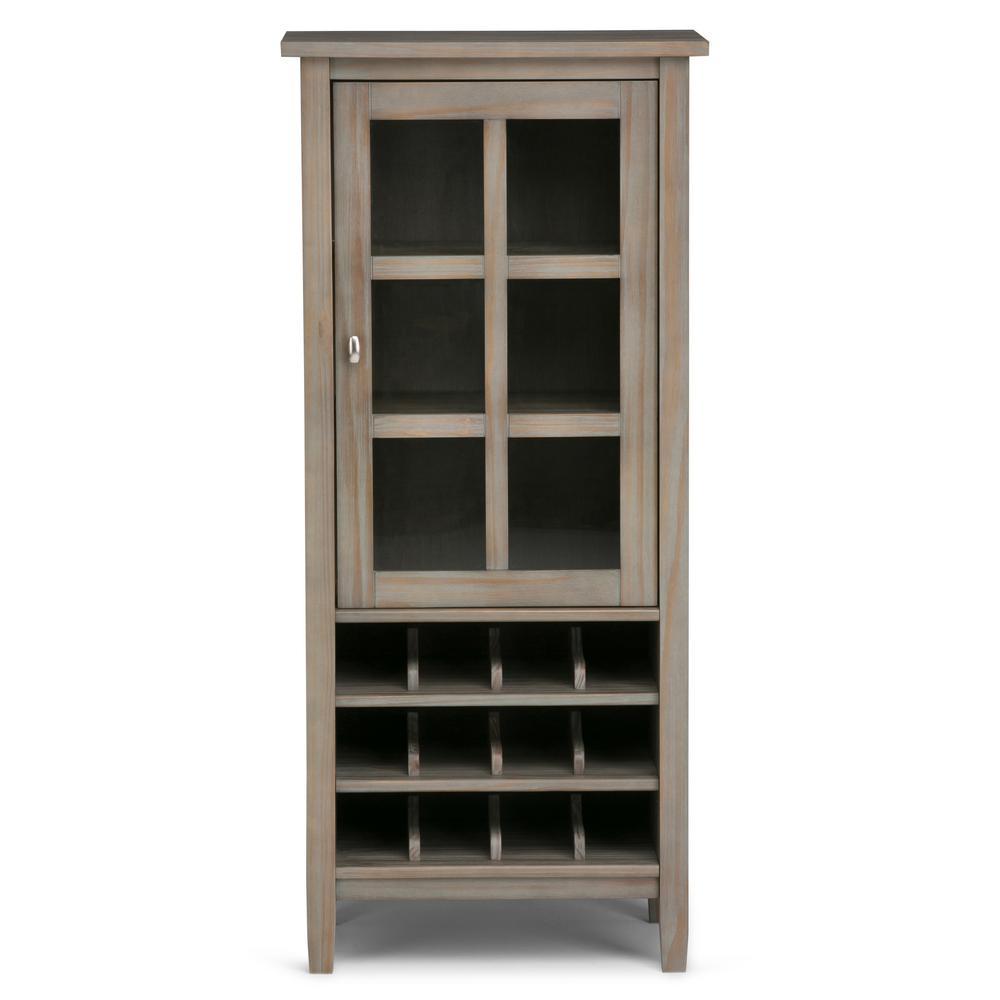 Warm Shaker 12-Bottle Wood High Storage Wine Rack