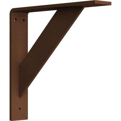2 in. x 10 in. x 10 in. Steel Hammered Copper Traditional Bracket