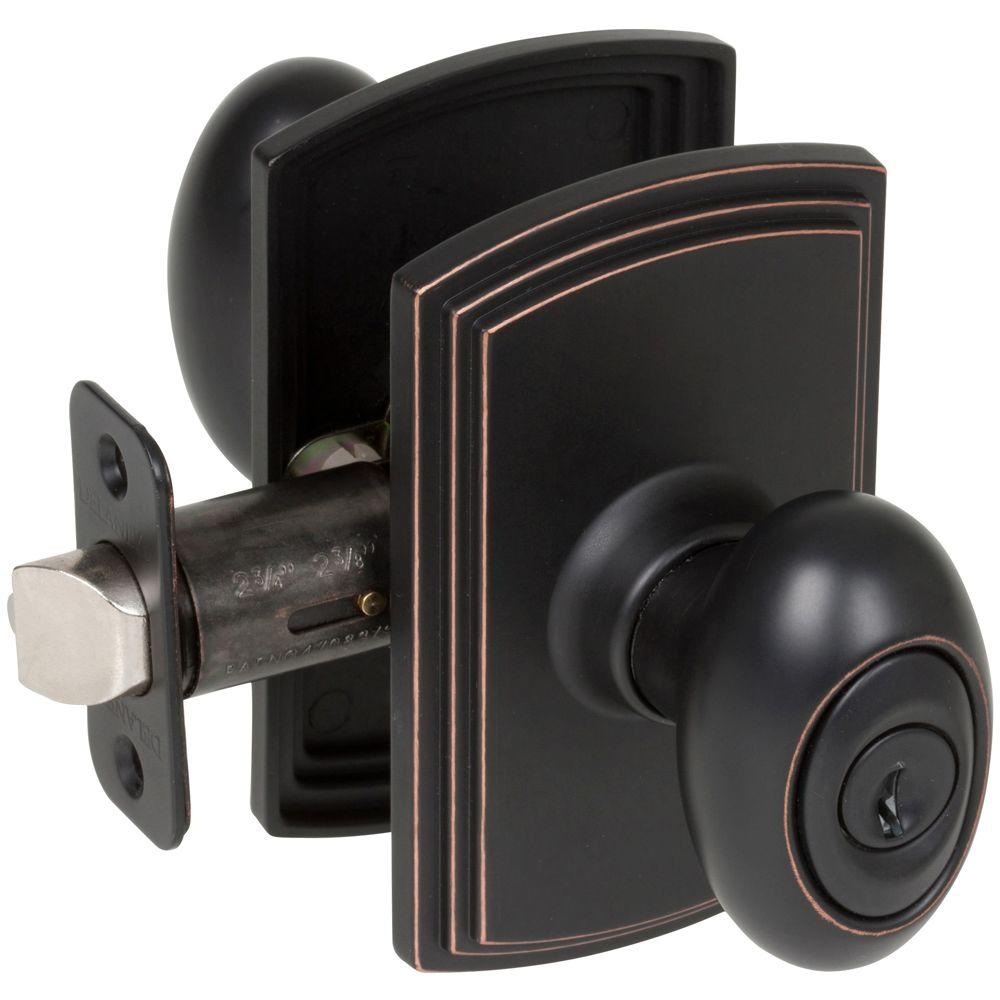 Black Entry Door Knobs Door Knobs The Home Depot