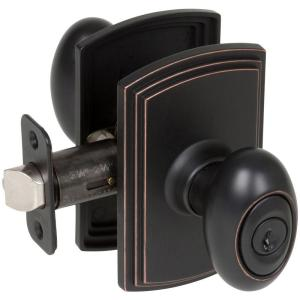 Attractive Delaney Italian Collection Canova Edged Oil Rubbed Bronze Entry Knob 500T CN US10BE    The Home Depot