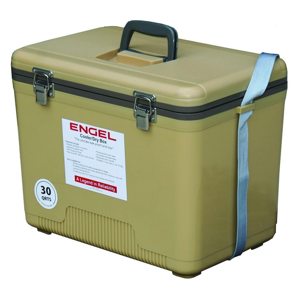 Engel 30 Qt. Ice/Dry Box in Tan, Beige