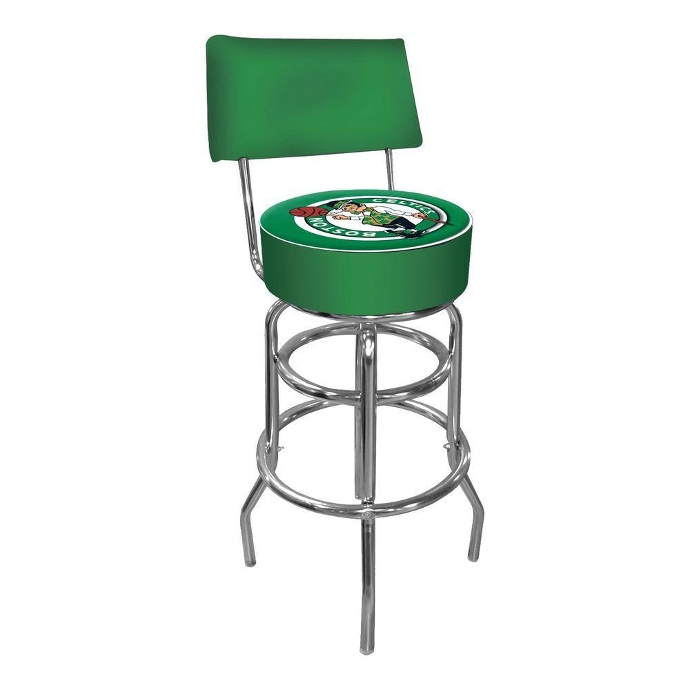 Trademark Boston Celtics NBA 30 in. Chrome Padded Swivel Bar Stool