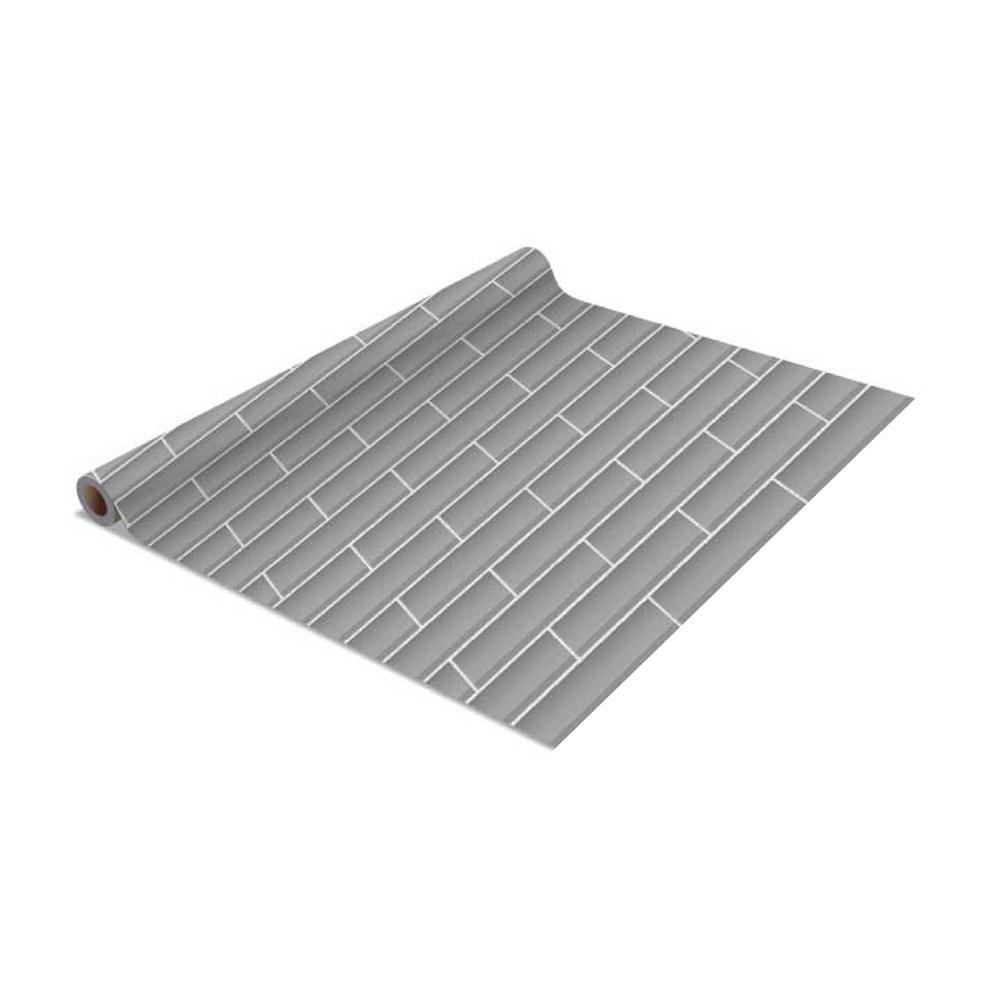 2-Pack Subway Tile Self-Adhesive Shelf Liner in Grey