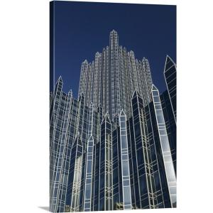 """""""Pennsylvania, Pittsburgh, PPG Place Building Detail"""" by Walter Bibikow Canvas Wall Art"""