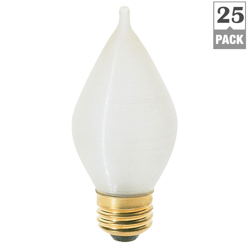 25-Watt Incandescent C15 Light Bulb (25-Pack)