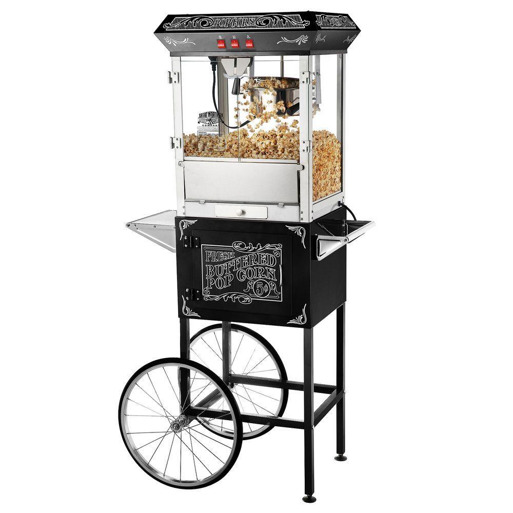 Old Time 8 oz. Popcorn Machine & Cart