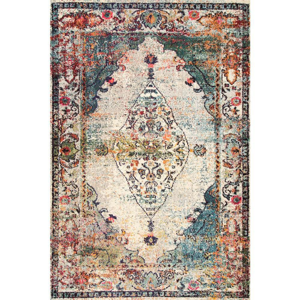 NuLOOM Vintage Medallion Veronica Blue 7 Ft. 10 In. X 11