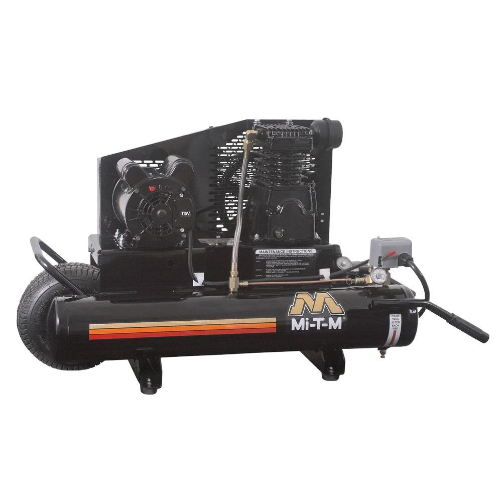 Mi T M Corp 8 Gal. 6.5 CFM at 100 PSI 120-Volt 1.5 HP Ele...