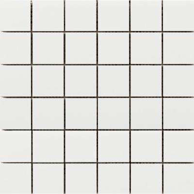 Choice White 12.05 in. x 12.09 in. x 8mm Ceramic Mesh-Mounted Mosaic Tile