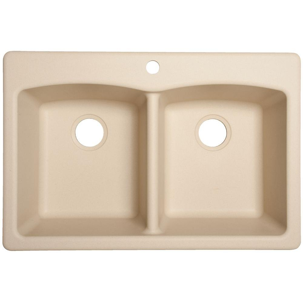 Granite Kitchen Sink: Franke Dual Mount Composite Granite 33 In. 1-Hole Double
