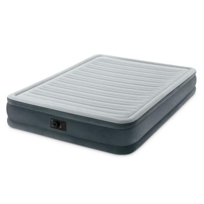 Queen PVC Dura-Beam Series Mid Rise Airbed with Built-in Electric Pump