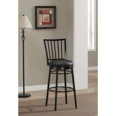 Easton 26 in. Black Cushioned Bar Stool