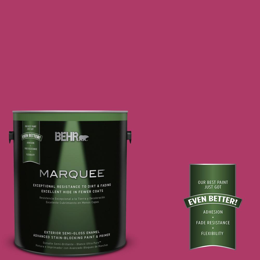1 gal. #HDC-SM16-04 Bing Cherry Pie Semi-Gloss Enamel Exterior Paint
