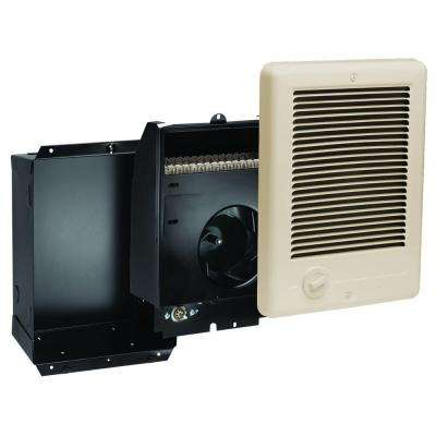 Com-Pak 1,000-Watt 120-Volt Fan-Forced In-Wall Electric Heater in Almond
