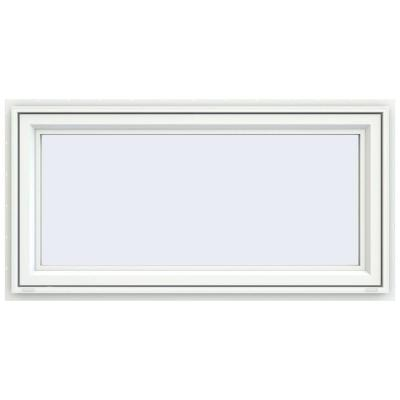 47.5 in. x 23.5 in. V-4500 Series White Vinyl Awning Window with Fiberglass Mesh Screen