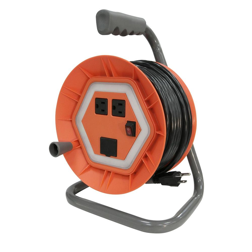 extension cord reels extension cords the home depot. Black Bedroom Furniture Sets. Home Design Ideas