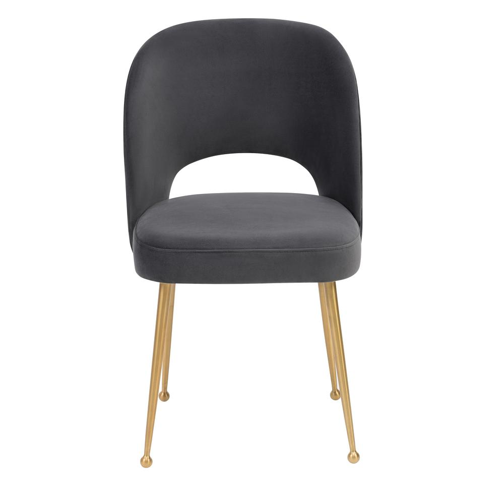 Etonnant TOV Furniture Swell Dark Grey Velvet Chair