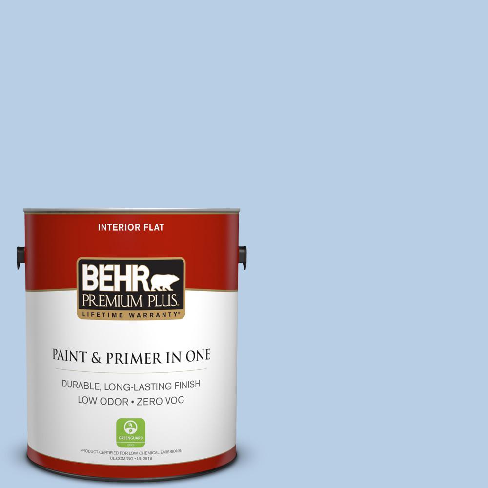 BEHR Premium Plus 1-gal. #570C-3 Tender Twilight Zero VOC Flat Interior Paint