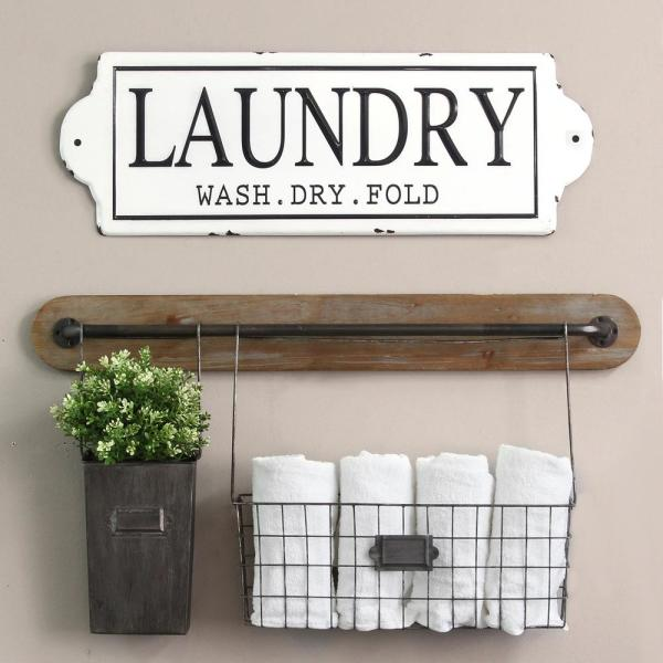 Metal Laundry Wall Decor
